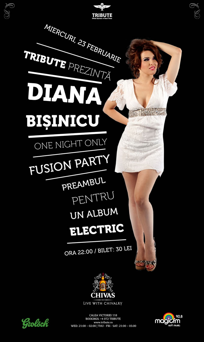 Diana Bisinicu - One Night Only - Fusion Party
