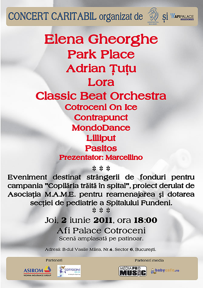 Concert Caritabil in Bucuresti la Afi Palace Mall