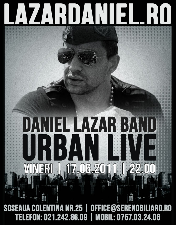 Urban Night Live cu Daniel Lazar Band in Sereno Music Club
