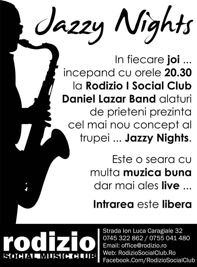 Concerte in Bucuresti | Jazzy Nights @ Rodizio Social Music Club