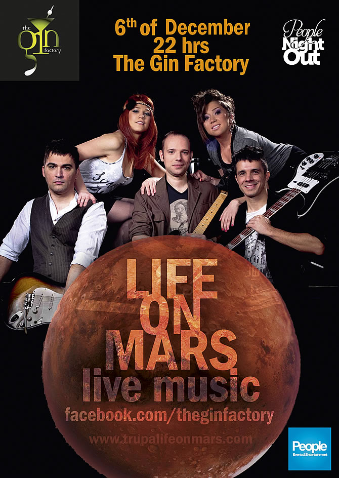 Concerte in Bucuresti | Life on Mars @ The Gin Factory