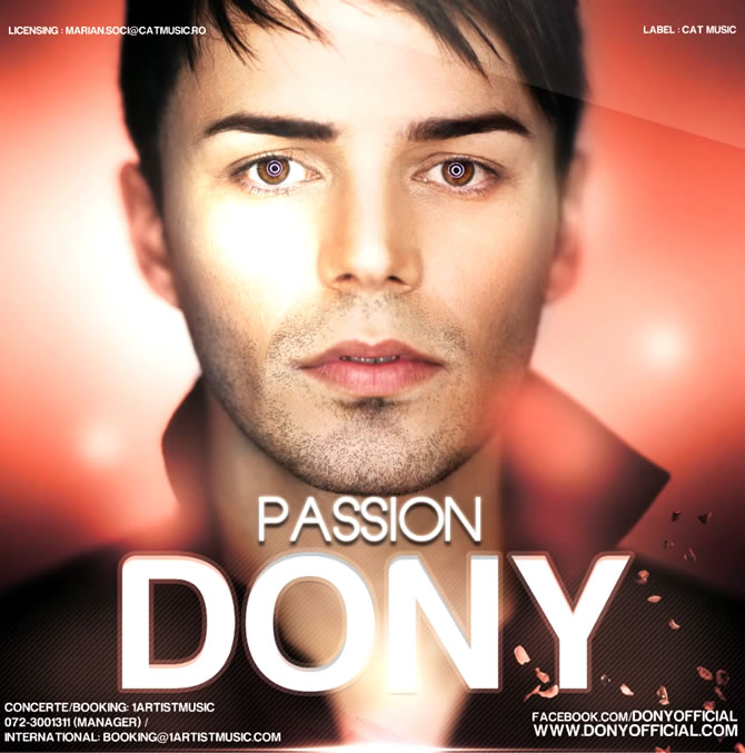"""Passion"" este cel mai nou single lansat de Dony"