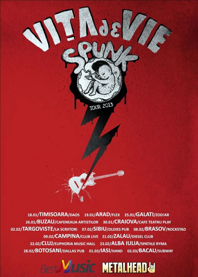 Vita de Vie Spunk Tour 2013 (Turneu National)
