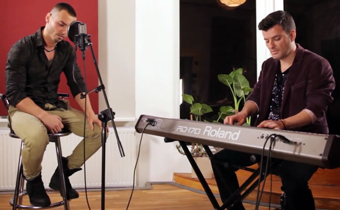 "Sonny Flame a cantat piesa lui John Legend  ""All of Me"""