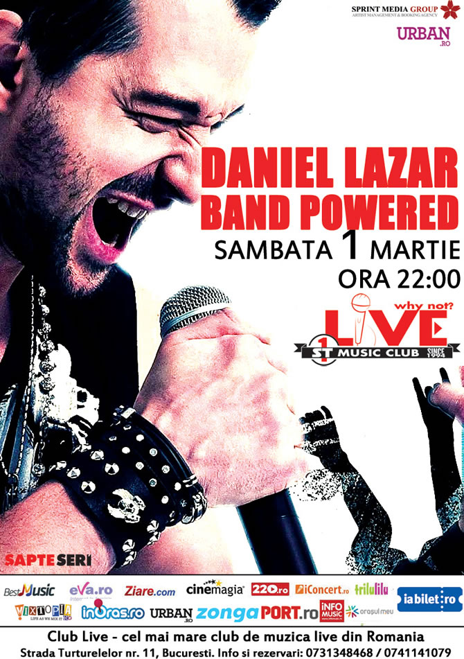 Daniel Lazar canta de 1 Martie in Club Live, fostul Why Not